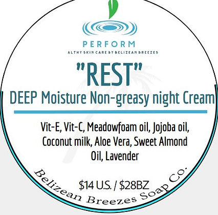 DEEP Moisture Night cream NON-greasy!