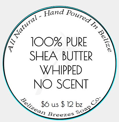 100% PURE SHEA BUTTER WHIPPED NO SCENT