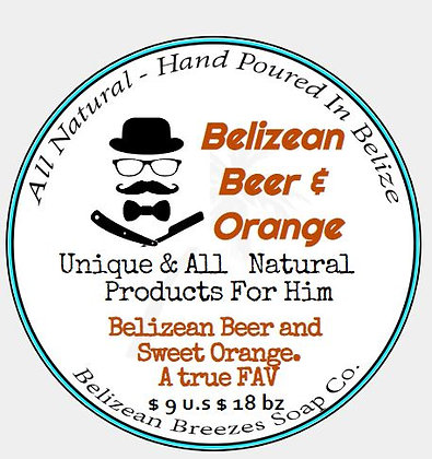 Belizean Beer & Orange BODY SOAP BAR