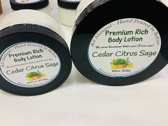 Premium Whipped Body Lotion  CEDAR CITRUS SAGE