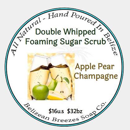 Apple-Pear Champagne Whipped Sugar Scrub