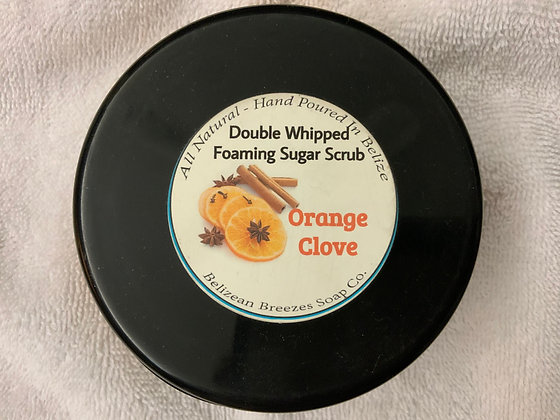Orange and Clove Foaming Whipped Sugar Scrub