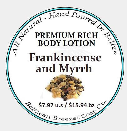 Premium Whipped Body Lotion Frankincense and myrrh