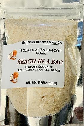 Beach in a bag  bath and foot soak/Creamy coconut