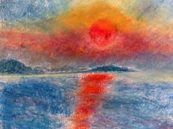 Sonnenuntergang ueber Brijuni von Karmen