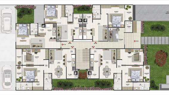Edifício Multifamiliar - Planta Térreo