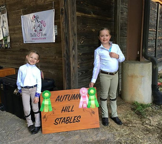 Madilynn and Nora rode great today in a