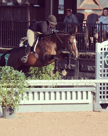 Deanna & JetPack competing in the USHJA