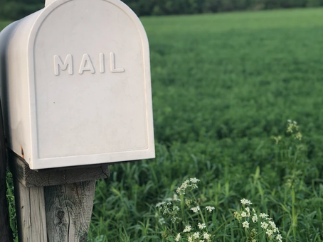 You can now send me snail mail!