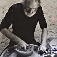 Making a wheel sculpture 1976