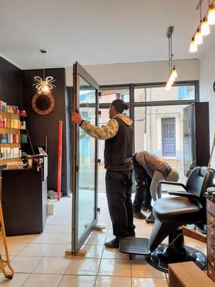 Devanture de magasin, façade EST 83470 ASBF Menuiserie St MAXIMIN LA STE BAUME