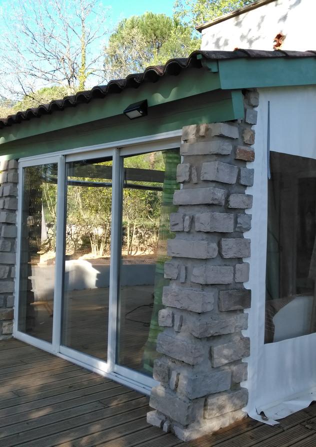 Fermeture de terrasse, st Maximin, pourrieres, trets