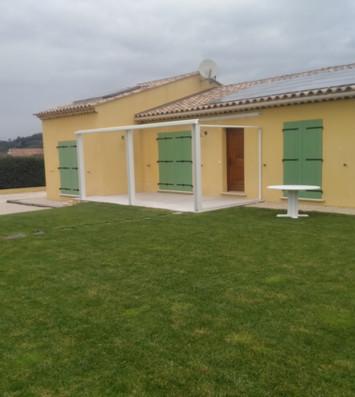 """Debut Installation de la """" Veranda """" Sur Rians 83560"""