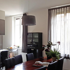 Tende per salotto in stile moderno