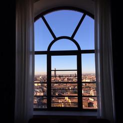 Tende doppie per finestra con vista