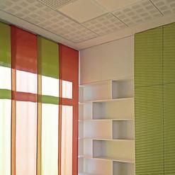 Tende colorate per ufficio