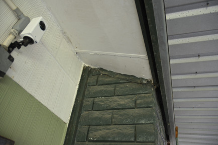 Old Roof Soffit Before