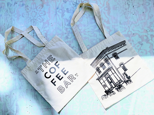 The Coffee Bar Canvas Tote - Natural