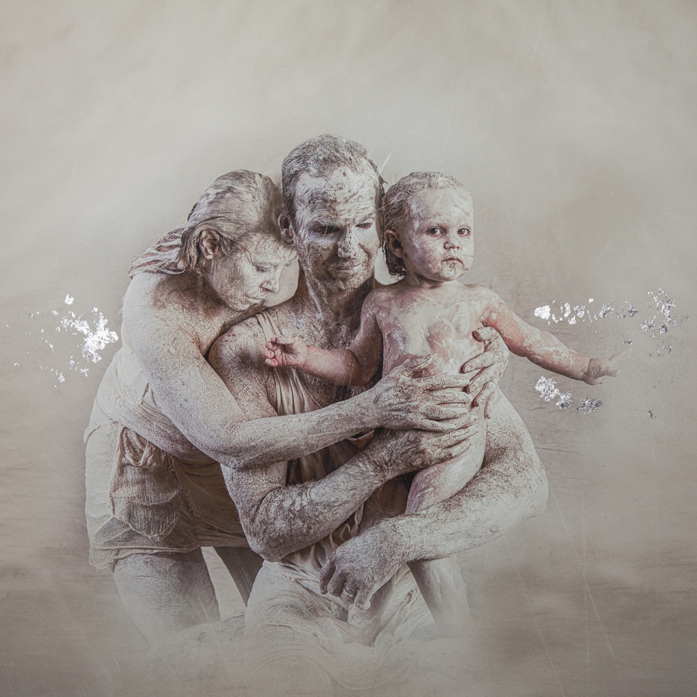 Through Death and Life Silver Gilt Print