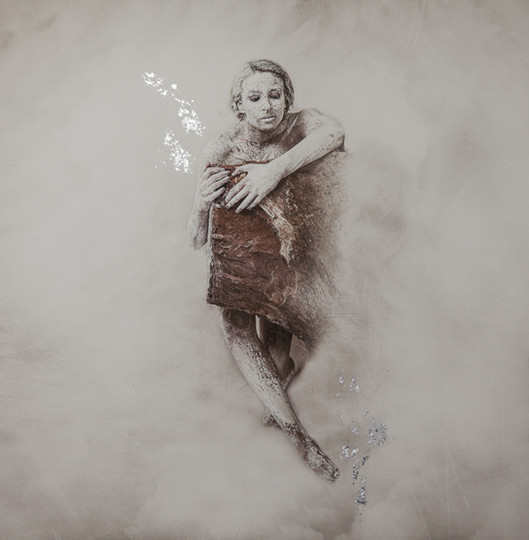 Orphaned Silver Gilt Print
