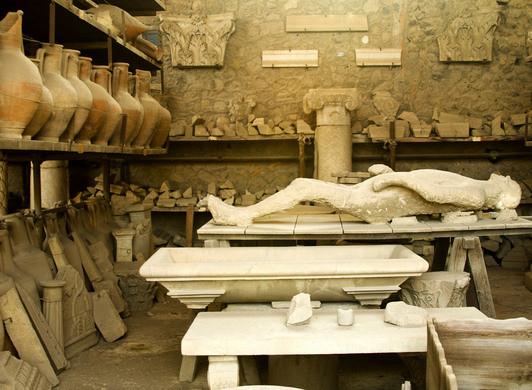 pompei taşlaşmış insanlar