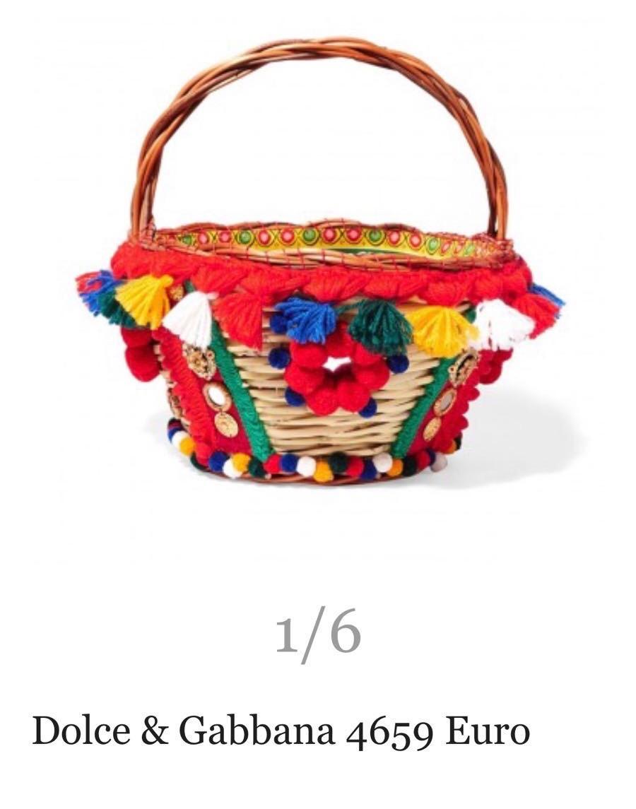 dolce gabbana basket bag