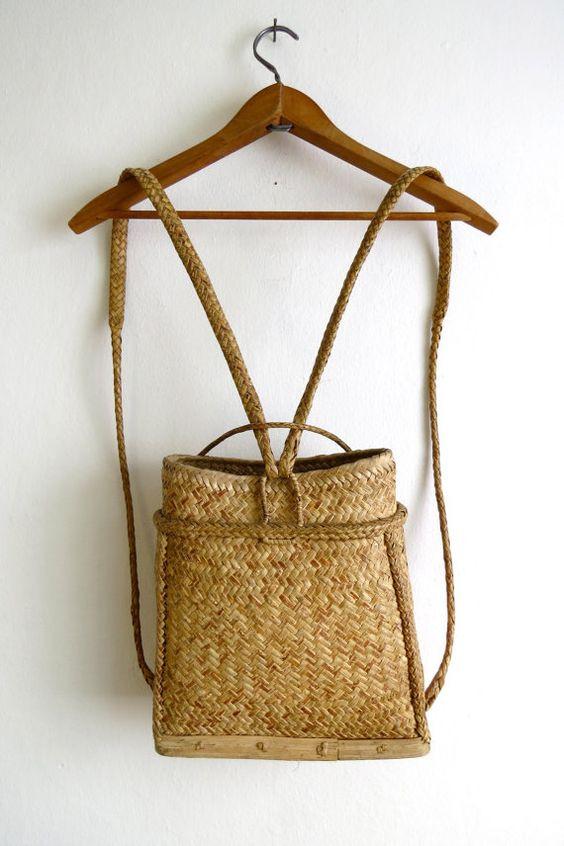 Hasır sırt çantası