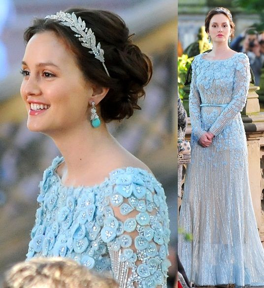 Blair Waldorf wedding dress ellie saab