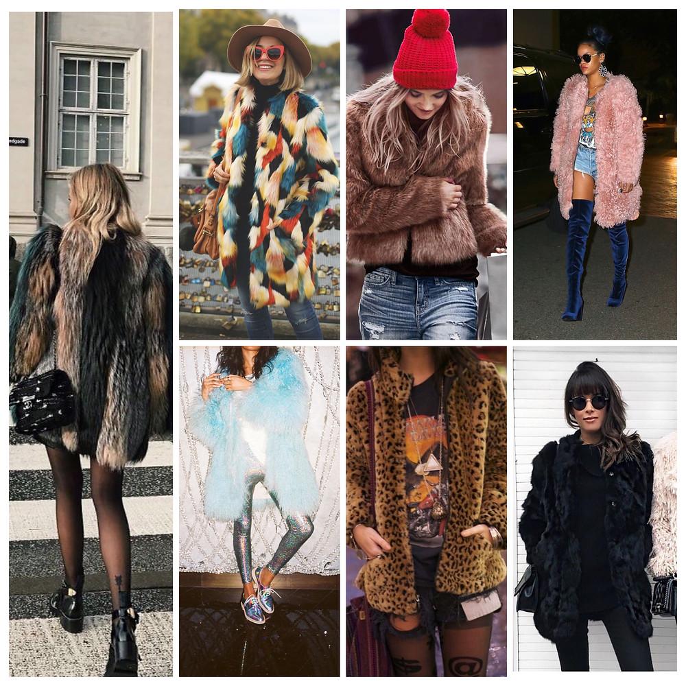 fur coat peluş kürk ceket