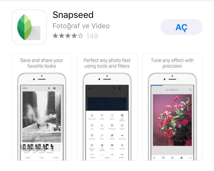 snapped photo shop programı