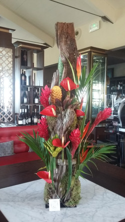 décoration florale restaurant