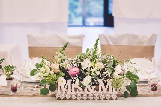 décoration table d'honneur délice floral