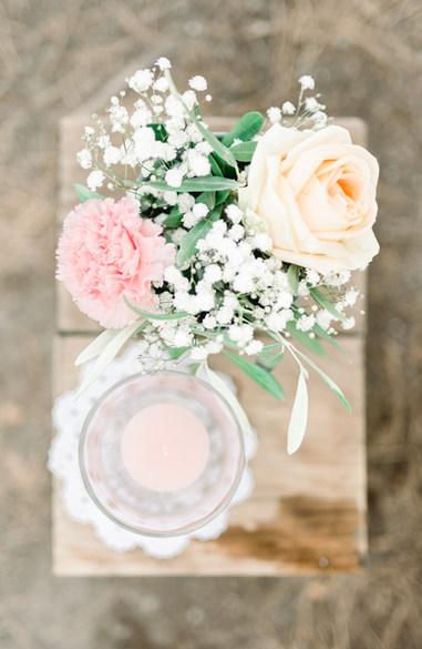 bouquet allée fleurie cérémonie laique