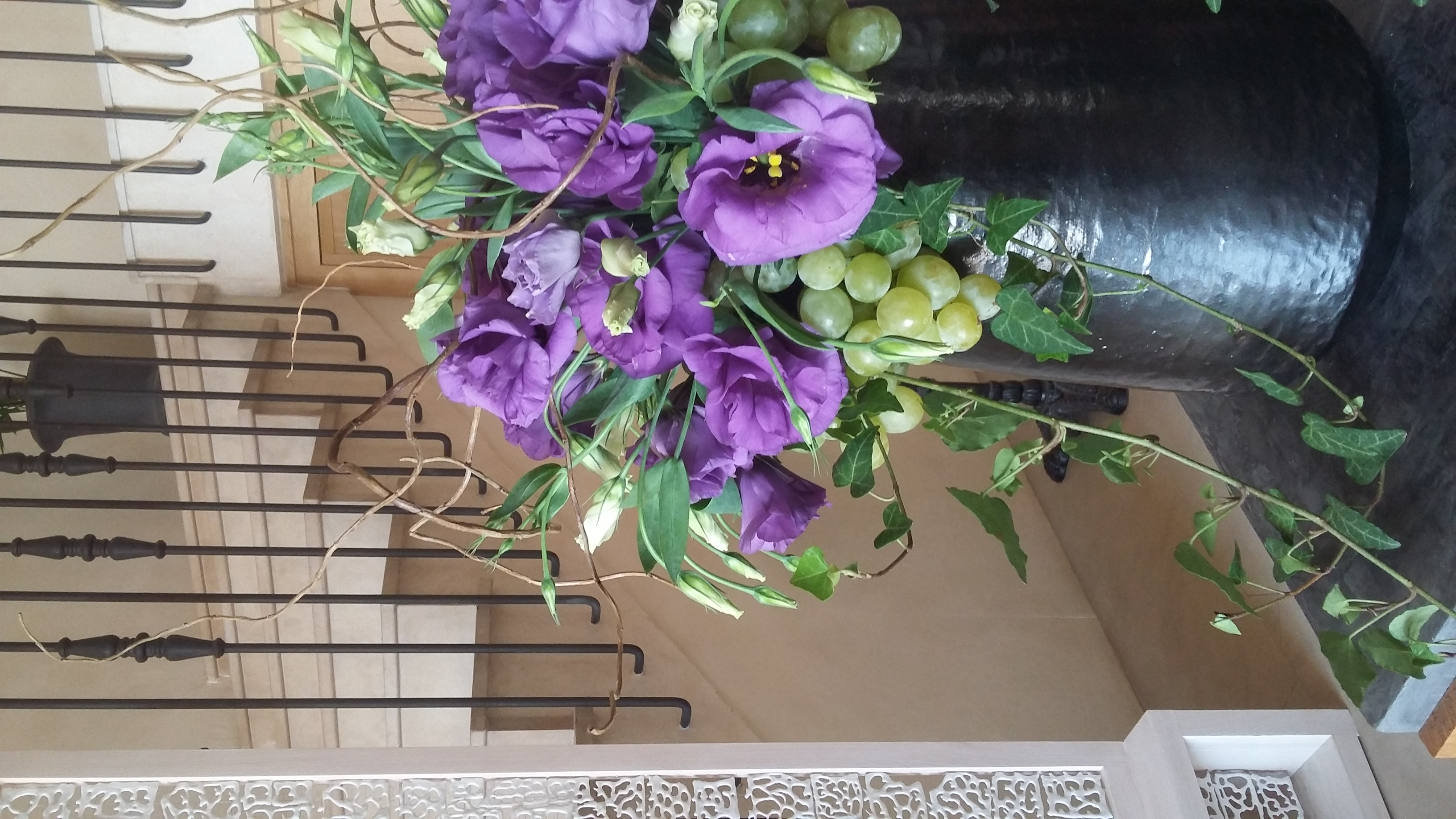 décoration florale accueil restaurant