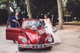 voiture mariés délice floral