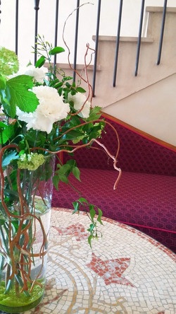 décoration florale salon hotel