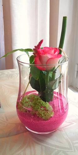 décoration florale table restaurant