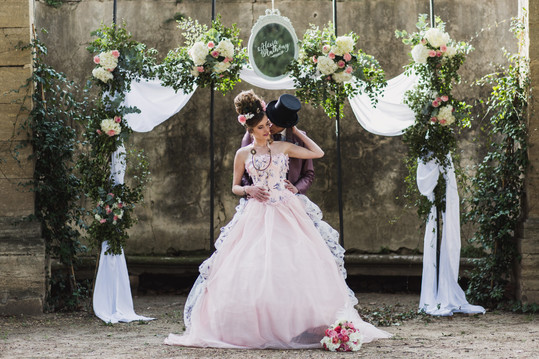 shooting mariage délice floral