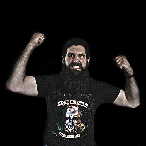 Angry Irishman Gasmask T-Shirt