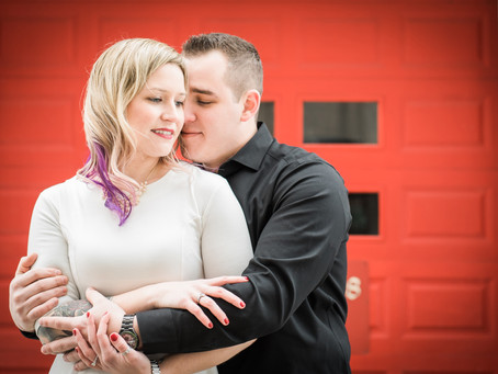 Chicago Firehouse Engagement Session