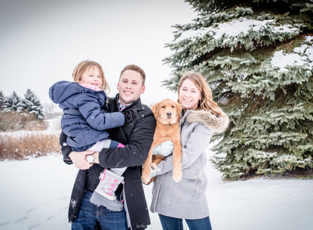 Snow Day Family Session