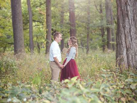 Fullersburg Forest Preserve, Oak Brook // Jocelyn + Kody Engagement Session