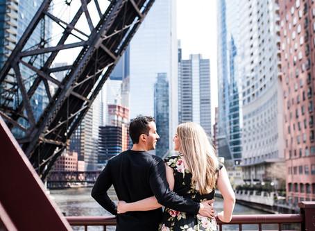 Chicago Engagement // Stephanie + John