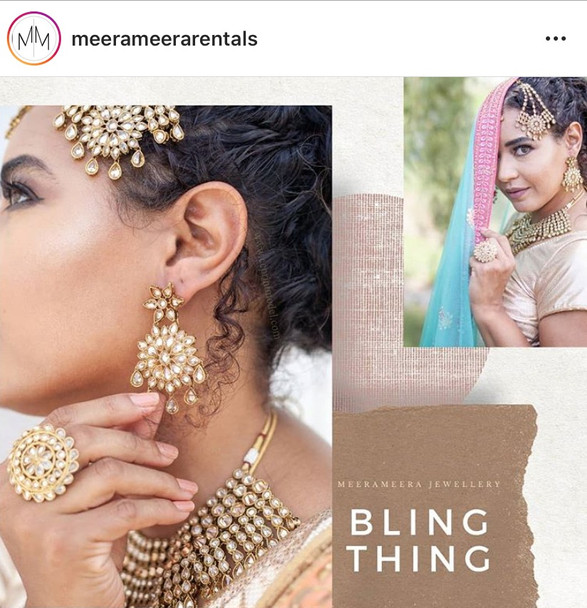 South Asian bridal modelling jewelery