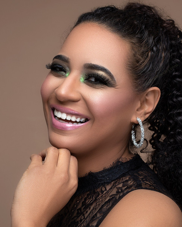 Beauty model smiling headshot