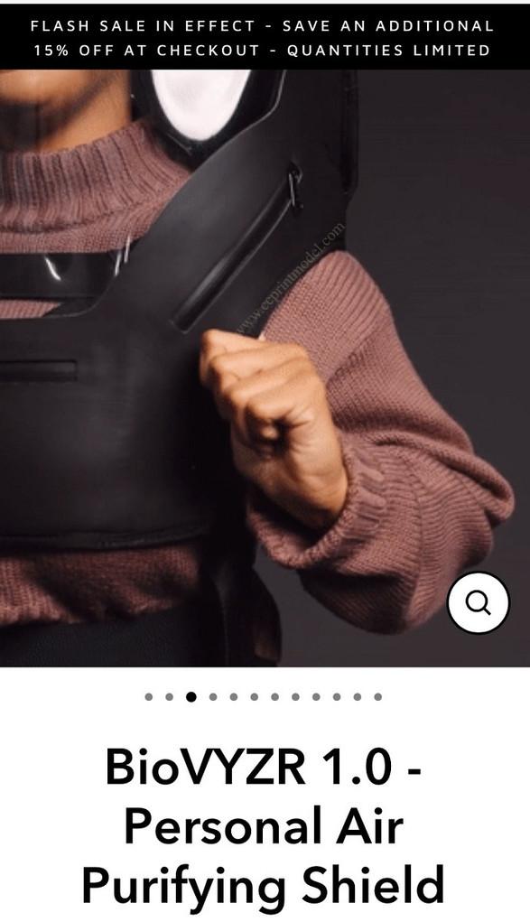 Hand model demonstrating BioVYZR