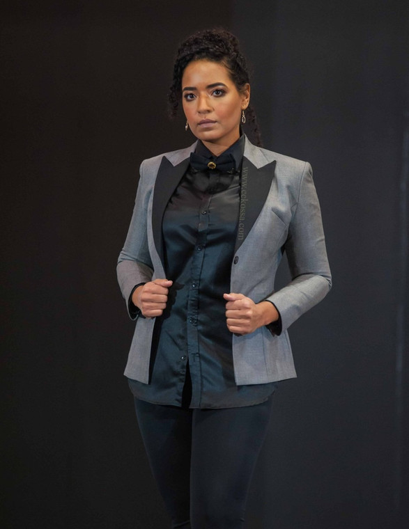 Toronto runway model business wear