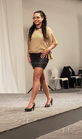 London fashion show model