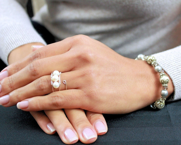 elegant toronto hand model beaded jewellery