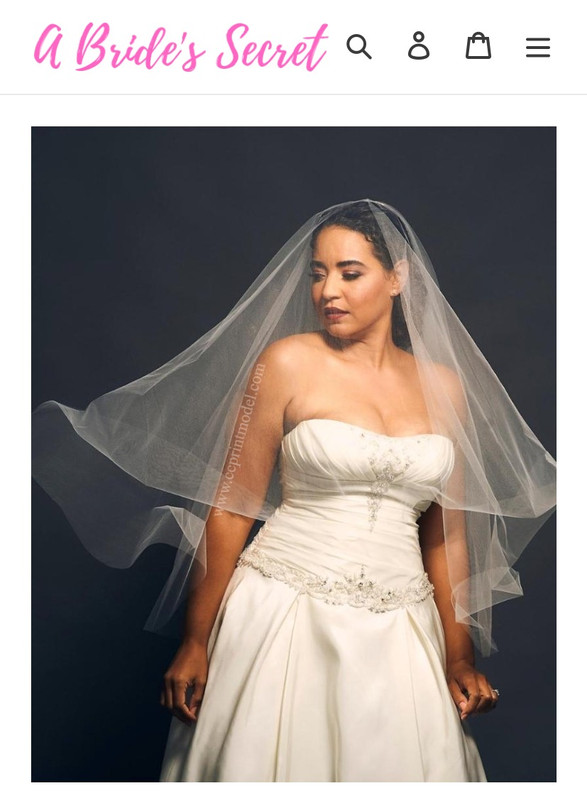 White bridal veil flowing
